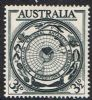 Australia SG279 1954 Antarctic Research 3½d mounted mint